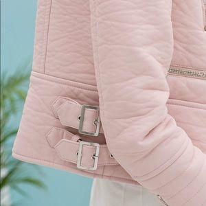 Baby Pink! 👛✨ ZARA pink leather jacket! Size XS